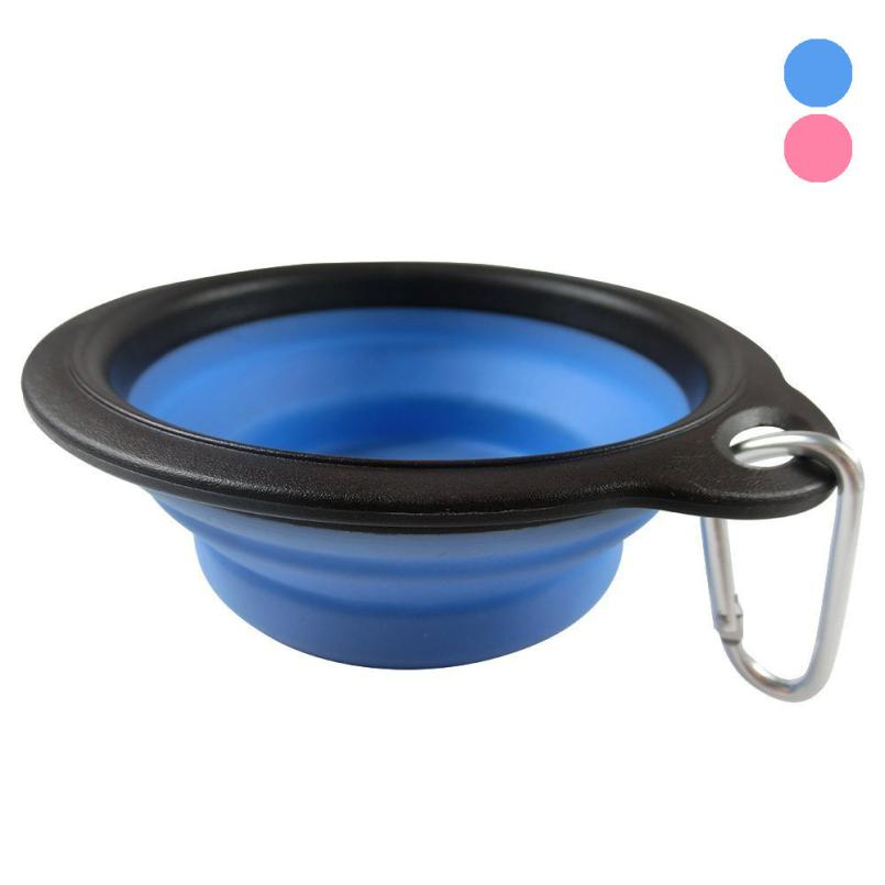 New Qualified Dog Cat Pet Silicone Collapsible Travel Feeding Bowl Water Dish Feeder dig671(China (Mainland))