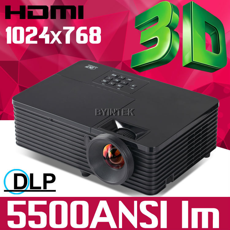 Education business 4k home theater Daylight 5500ANSI lumens Rear HDMI 1080p full HD 3D DLP Projector Proyector beamer for school(China (Mainland))