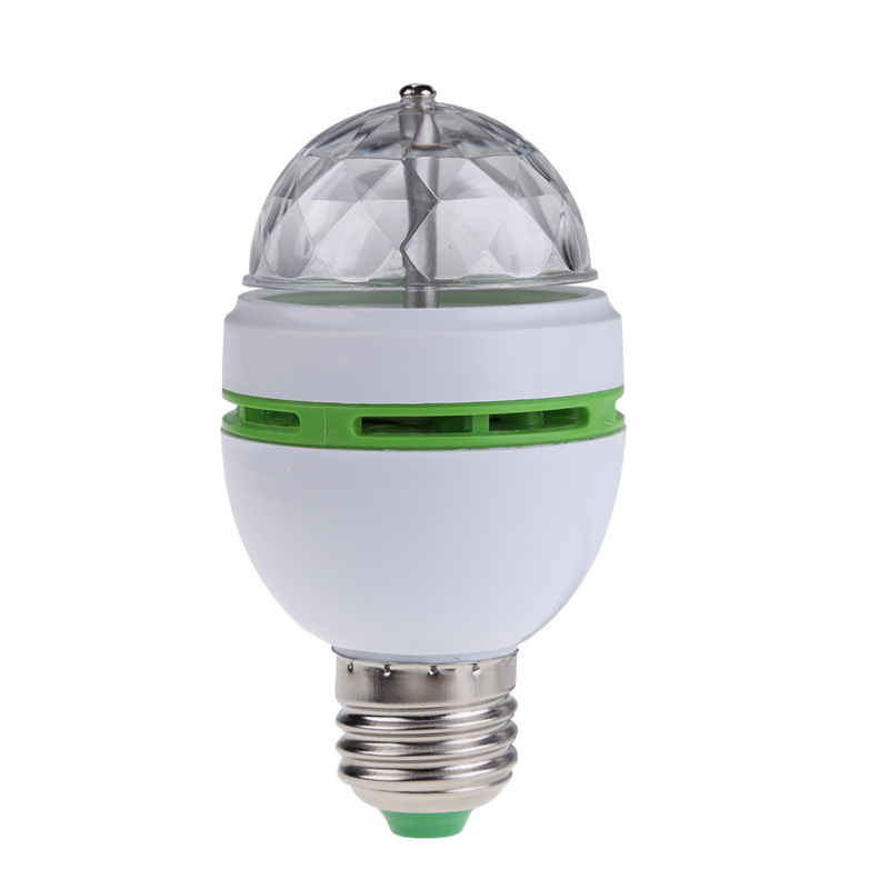 Гаджет  E27 3W Colorful Auto Rotating RGB LED Bulb Stage Light Party Lamp Disco Free Shipping ST1# None Дом и Сад
