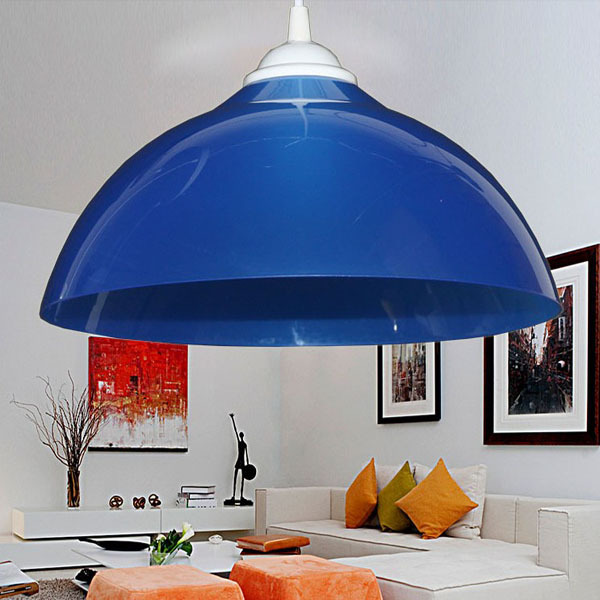 Simple Restaurant Pendant Lamp Shade Single Color Creative Lighting 100-220V PVC Colorful lampshade(China (Mainland))