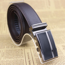 Hot sell Men genuine leather belt cowhide high quality auto locked buckle leather strap free shipping(China (Mainland))