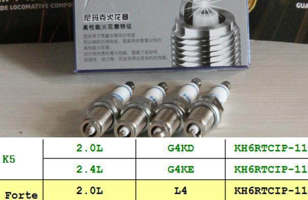 Replacement Parts Platinum iridium car candles plug spark for kia K5 forte 2 0l G4KD G4KE