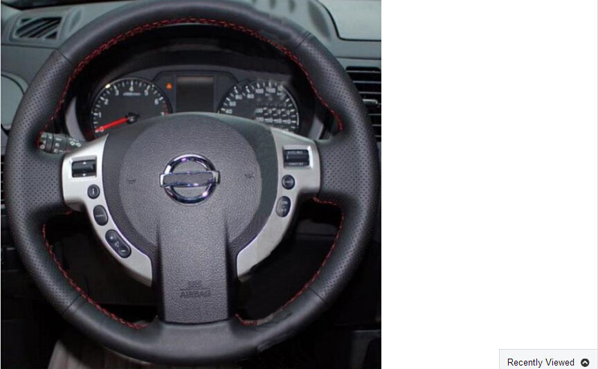 Hand sewing leather steering wheel covers Nissan Qashqai X-TRAIL NV200 - ANW store