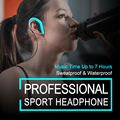 2017 Sport Headphones Waterproof Bluetooth Headset Wireless Earphones with Microphone Noise Cancelling Earbuds for Xiaomi iPhone