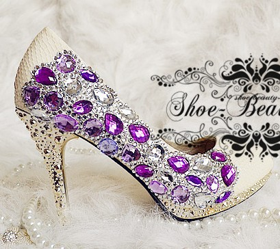 Purple Bling Wedding Shoes Wedding Shoes Green Purple