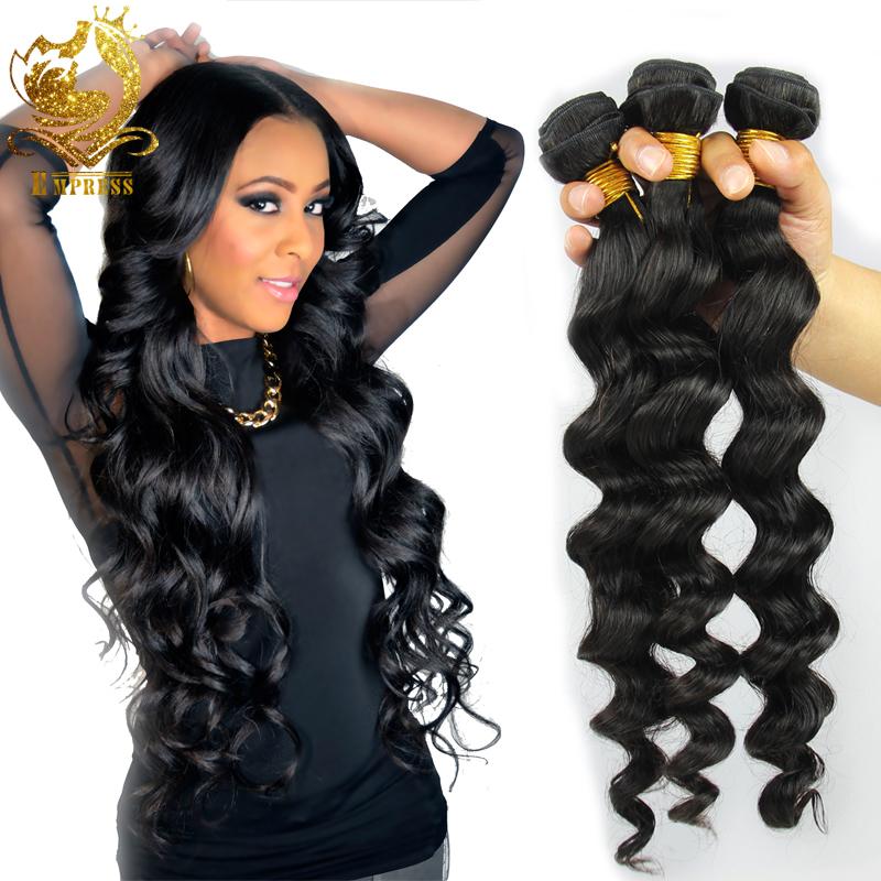 Brazilian Loose Wave Virgin Hair 3 Pcs/Lot Unprocessed Virgin Brazilian Hair Weave Bundles(China (Mainland))