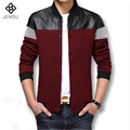 2016 New Men Leather Jacket Fashion Jacket Brand Men Slim Fit Jackets and Coat Autumn Winter