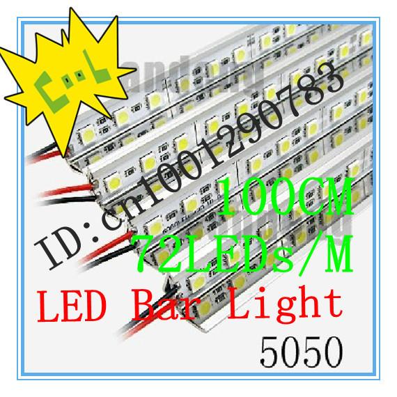 Express 35m/lot,DC12V 1M 72leds V Aluminum Shell Non-Waterproof Warm White SMD 5050 Led Strip Bar Lights, Retail, - SHEN ZHEN ROYAL TRADE CO.,LTD store