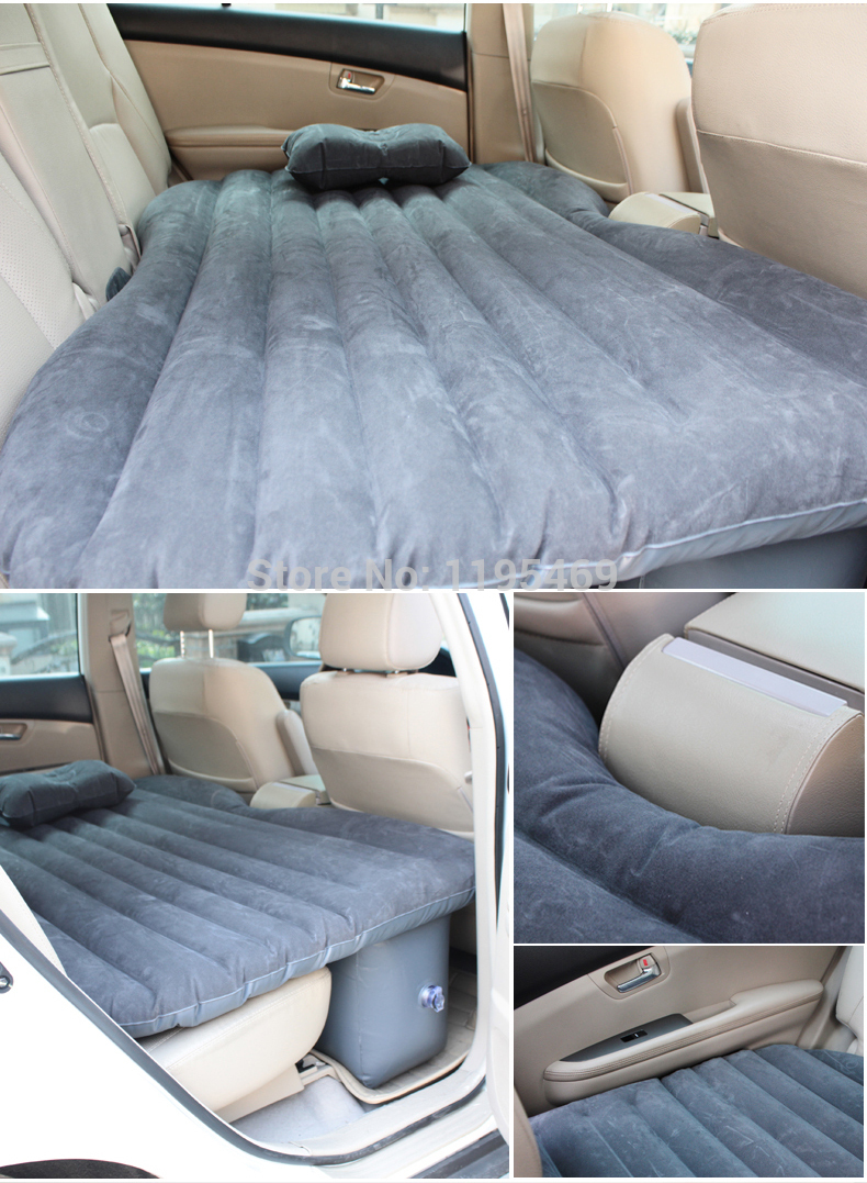 DHL Free Car travel bed inflatable mattress cushion bed in the rear car with Car air Pump,an inflatable pillow,and an repair bag(China (Mainland))