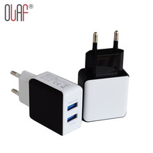 Buy Olaf Dual USB 2.5A Quick Charge 2.0 EU Plug Travel USB Charger Wall Mobile Phone Charger iPhone 5 6 7 Plus Samsung Xiaomi for $4.24 in AliExpress store
