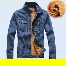 New 2015 Fashion Men Jeans Jacket Man Denim Jackets Jean Outwear Thick Winter coat size M-XXXL Free shipping(China (Mainland))