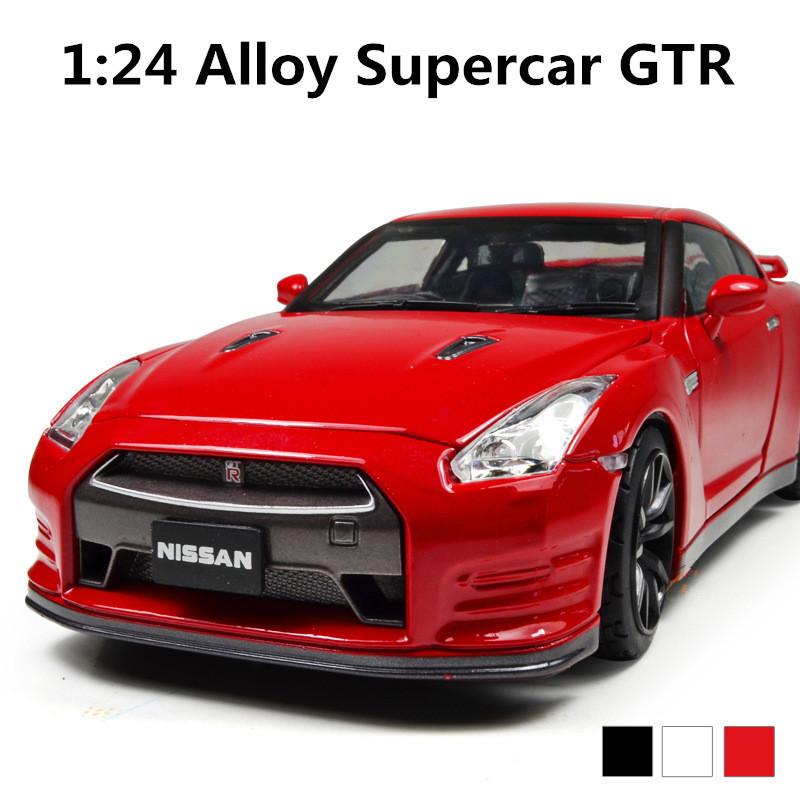 Supercar GTR 1:24 Alloy sliding model cars,Diecasts car,High quality Metal Model Car,free shipping<br><br>Aliexpress