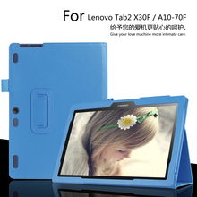 Buy lenovo Tab2 10.1inch X30F/A10-30 Tablet Case Litchi PU Leather Cover Tab2 A10-70F/L Slim Protective shell + Film + Pen for $7.23 in AliExpress store
