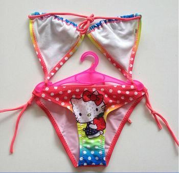 Girls bikini set biquini infantil baby girl swimwear kids swimmer lovely two pieces swimsuit for girl children bathing suit 2-6T