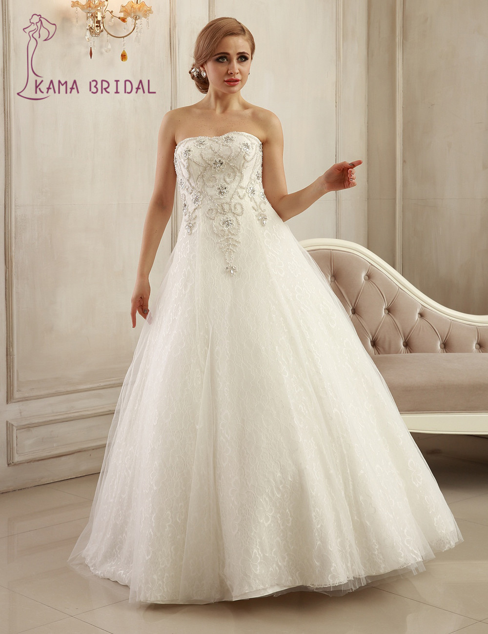 Gorgeous ball wedding dresses sweetheart off shoulder lace for Heavy beaded wedding dresses