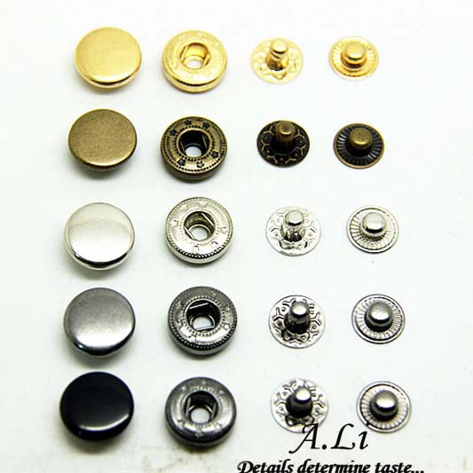 """Free Shipping H158 100 sets 655 Rapid Rivet Button Snaps Fasteners 1cm 3/8"""" For Leather craft Leather craft Metal Jeans Buttons(China (Mainland))"""