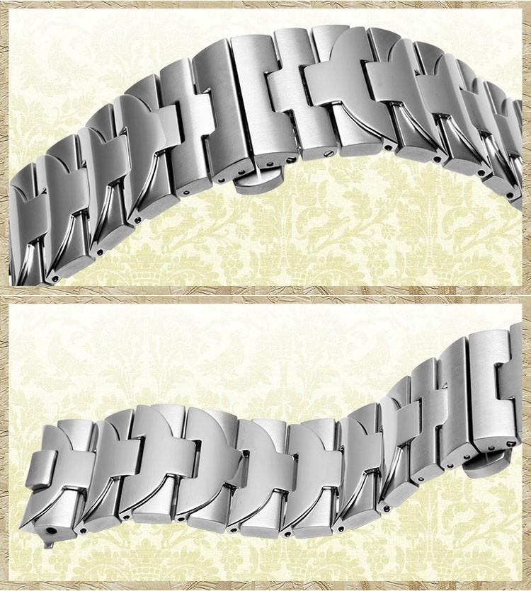 Высокое качество 24 мм Из Нержавеющей Стали Часы Ремешок ремешок Ссылка С 316 L Развертывания Пряжка Застежка Для PANERAI Fit 44 мм Корпус С Логотипом