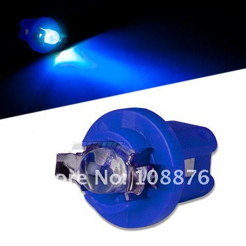 Free shipping! 10 x B8.5 led bulb, white blue red green and yellow car/motorcycle instrument lights, map lights