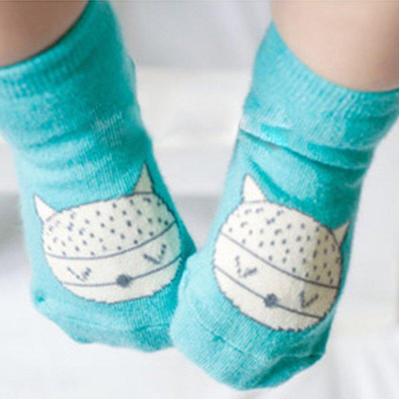 Retail 2016 Animal Infant Baby Fox Printed Cotton Knee Socks Anti-slip Socks Free Shipping