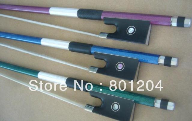 3 pcs of Carbon fiber violin bow in three colors (4/4)