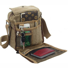 Men Canvas Messenger Bag Casual Travel Bag Vintage Brand Briefcase Mini Quality Cool Shoulder Crossbody Bags Brown Bolsa XA383H(China (Mainland))