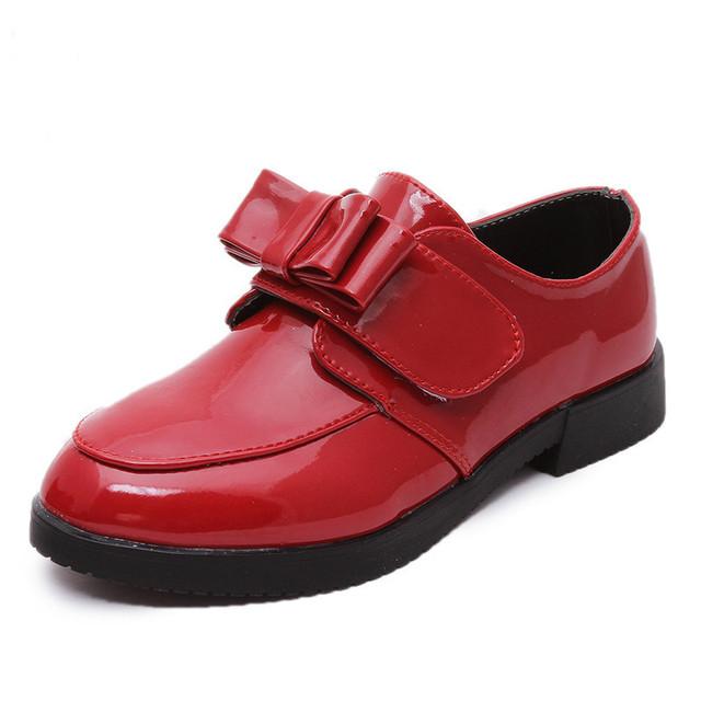 2016 весенние детская обувь детей принцесса обувь девочек с бантом обувь дети кроссовки из кожи девочки кроссовки луки волшебная палочка 26 - 36