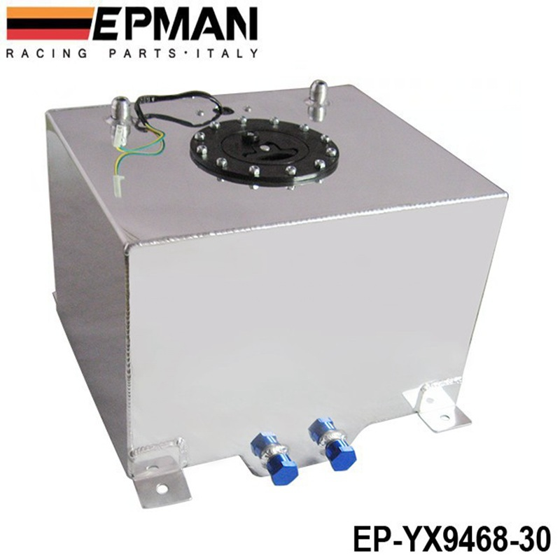 EPMAN 8 GALLON 30LSILVER COATED ALUMINUM RACING/DRIFTING FUEL CELL GAS TANK+LEVEL SENDER EP-YX9468-30(China (Mainland))
