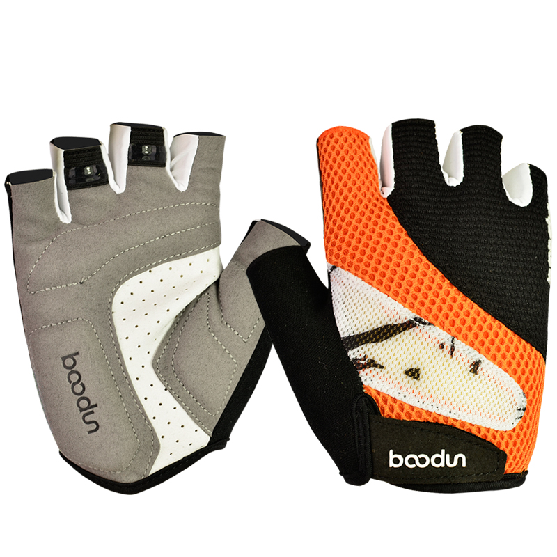 Breathable cycling fitness gloves non slip skidproof bicycle bike hiking running camping auto racing driving half finger gloves