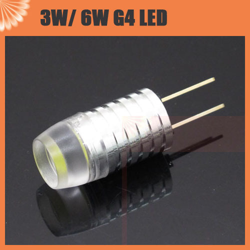 g4 3w 6w led corn bulb spot light dc 12v non polar lens high power for chandelier crystallights. Black Bedroom Furniture Sets. Home Design Ideas