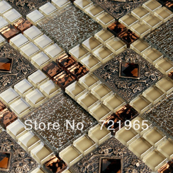 Buy glass mirror wall tile glass mosaic - Mirror mosaic tile backsplash ...