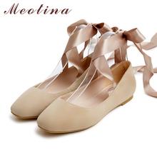 Buy Meotina 2017 Women Flats Shoes Women Ballet Flats Ladies Shoes Slip Ballet Flats Kid Suede Lace Shoes Dancing Footwear for $27.51 in AliExpress store