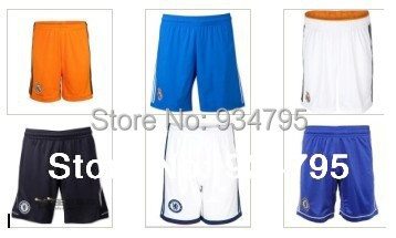 Top thai quality 2014-2015 Real Madrid Chelsea home and away shorts contact for more teams(China (Mainland))