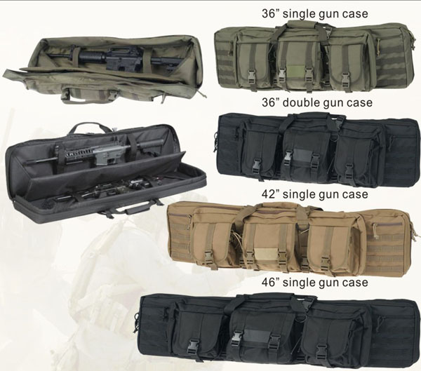 black Military gun bag hunting gun bag rifle bag 36 double guns can hold factory directly