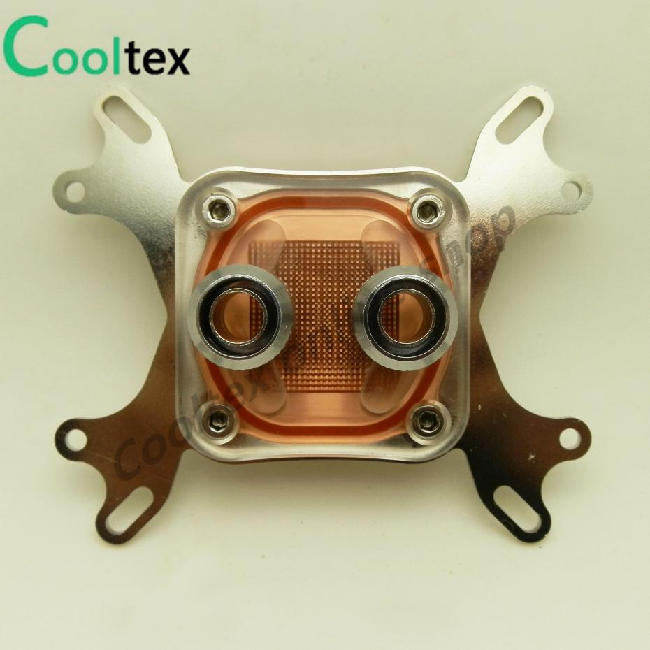 100%New Cpu Water Block Water Cooling Cooler Computer Cooling Radiator Radiator For Intel & AMD With Mounting Screws Recommend!(China (Mainland))