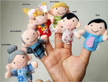 Free shipping 1200pcs/lot NEW Baby Toy Finger Puppet Loving family Finger puppet with whole sale pric(China (Mainland))
