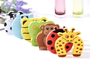 wholesale free ship 10pcs/lot Child kids Baby Animal Cartoon Door Jammers Stop stopper holder lock Safety guard Finger Protect