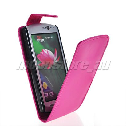 FLIP LEATHER CASE SLIM COVER FOR SONY ERICSSON XPERIA NEO MT15i FREE HIPPING(China (Mainland))