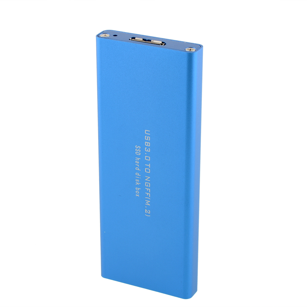 blue LM-711N black USB 3.0 To NGFF SSD External Enclosure Storage Case HDD Hard Disk Drive box ASM1053E External HDD(China (Mainland))