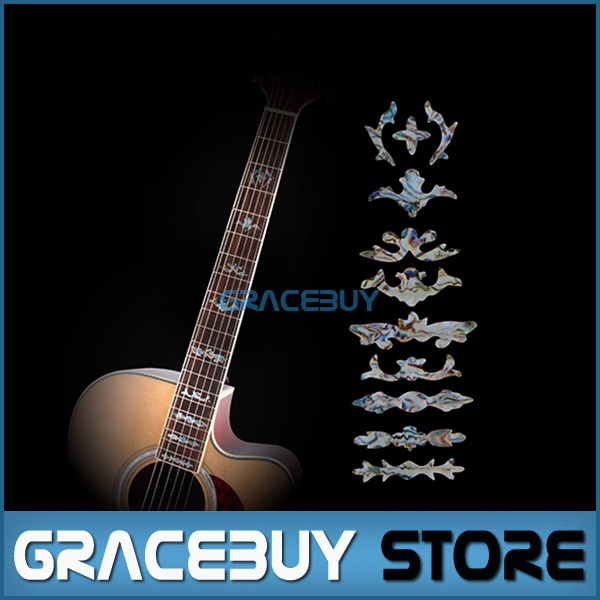 Guitar Fret Inlay Stickers Imitation Abalone Fretboard Neck Decals Marker For Acoustic Electric Guitarra New(China (Mainland))