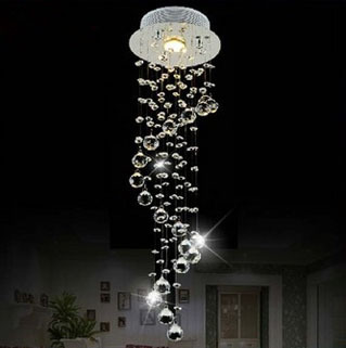 Modern Clear Waterford Spiral Sphere LED Lustre Crystal Chandelier Ceiling Lamp Home Decor Suspension Pendant Lamp Fixture Light(China (Mainland))