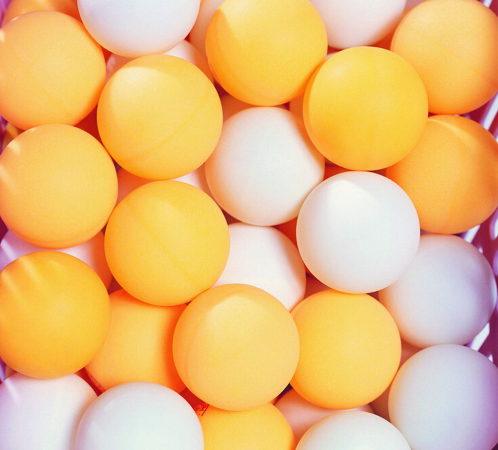 50Pcs/lot White Yellow 38MM Table Tennis Playing PingPong Balls For Lucky Draw(China (Mainland))