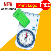 Outdoor orienteering thumb compass for the beginer orienteering map compass free shipping CH-0210FS