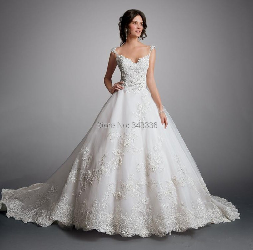 Wedding Dresses Real : Fw in stock real photos cheap wedding ball gown dresses beads