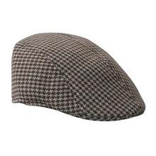 New Popular 3 Colors Unisex Plaid Flat Hats Beret for Men Women Autumn Winter Warm Caps Beret Hat(China (Mainland))