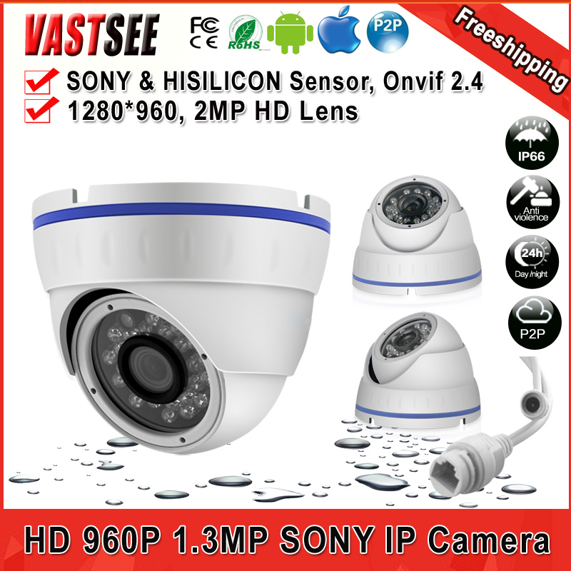 Mini IP indoor Dome Camera P2P Night Vision 960P Vandalproof IR Dome Network 1/3 SONY 1.4MP Low Illumination+Freeshipping <br><br>Aliexpress