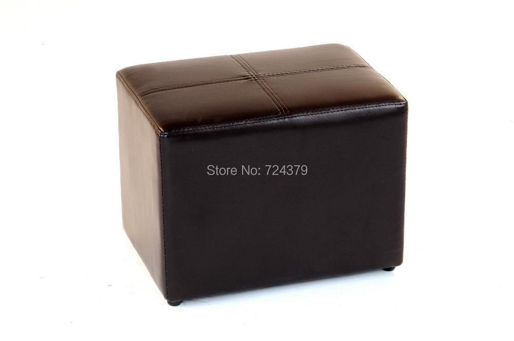 Pc storage ottoman set pu leather modern stools round