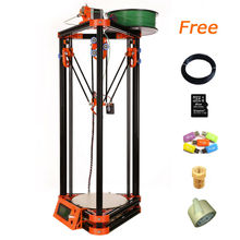 2015 newest printer 3d free shipping kossel diy 3d printer 3d kits with 40m filament masking tape 8GB SD card for Free