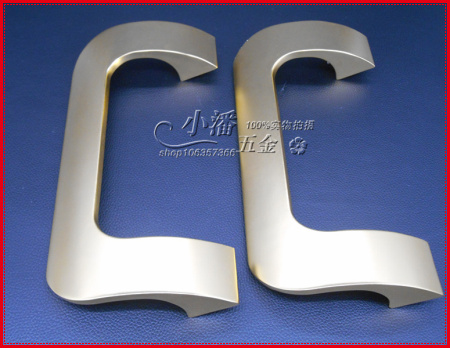 Фотография Frameless glass door handle space aluminum square sliding 190 pitch 210