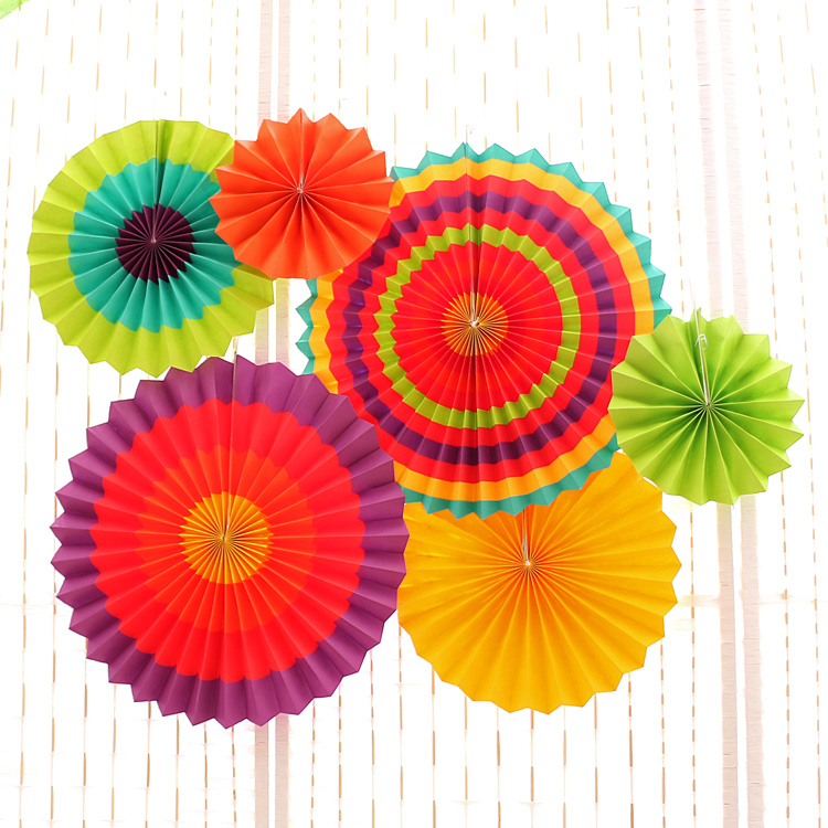 6pcs/set Tissue Paper Fan Craft Party Event Decoration Hanging Tissue Paper Flower Fans Favor Outdoor Wedding Party suppliers(China (Mainland))