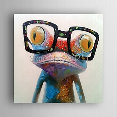 Animal Oil Painting Hand-Painted Canvas Wall Art Free Shipping(China (Mainland))